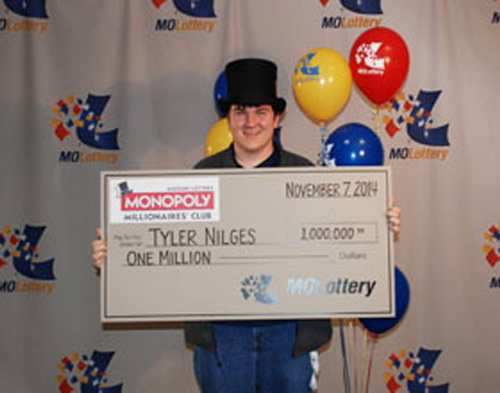 Tyler Nilges won the lottery by accident